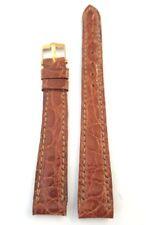 Cinturino per orologio OMEGA ORIGINALE fibbia ORO coccodrillo 13 mm NUOVO art 34