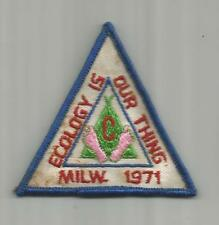 BSA ☆ PATCH ☆ 1971 Ecology Is Our Thing Milwaukee Wisconsin ☆ NEW