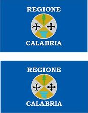set of 2x sticker vinyl car bumper decal province italy flag calabria