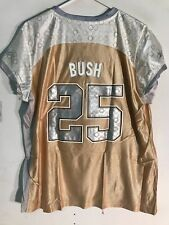 Reebok Women's NFL Jersey New Orleans Saints Reggie Bush Gold Flirt sz 2X