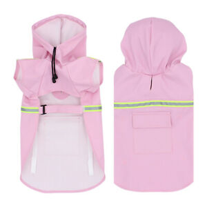 S - 5XL Pets Dog Raincoats Reflective Outdoor Dogs Waterproof Jacket Clothes New