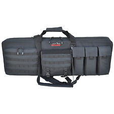 "Every Day Carry Black 47"" Heavy Duty Rolling Triple Rifle Case Range Bag - RW47"