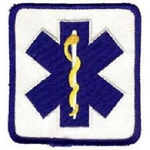 "EMS EMT or First Responder Star of Life Emblem Patch - 2.5""x3"""