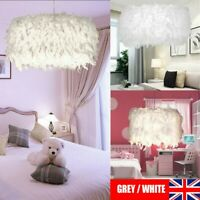 Feather Round Ceiling Light Shade Pendant Lampshade Easy Fit Sphere Modern Style