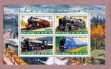 Locomotive Train - locomotora, Lokomotive MNH Minisheet of 4 q25-01