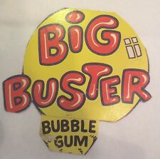 Gumball Machine - Display Card Big Buster Bubble Gum - vintage