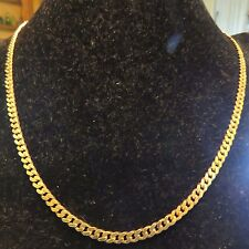 18K GOLD, CUBAN , CURB NECKLACE, 24 INCHES LONG, 3.5 MM WIDE X 1.3 MM THICK