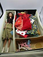 1962 Midge Barbie Doll + 1962 Ponytail Case + Clothes Shoes Accessories