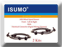 2 Kits ABS Wheel Speed Sensor W/Connector Front L&R Fits: Ford Mazda Mercury 4WD