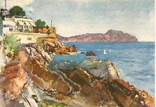 NERVI - La Marinella e promontorio di Portofino     illustratore : Aldo Raimondi