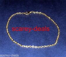 """5x 18 inch GOLD PLATED blank NECKLACE CHAINS 3mm x 2mm 18""""chains 1ST CLASS POST"""