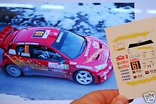 DECAL CALCA 1/43 PEUGEOT 206 WRC D. AURIOL RALLY MONTE CARLO 2005