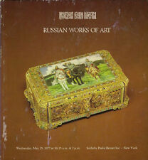 SOTHEBY'S RUSSIAN FABERGE ART ICONS ENAMELS GLASS Auction Catalog 1977