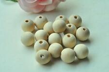 35pcs 14mm Natural Wood Bead Round Spacer Bead Unfinished Wood Rondell Bead 2M88