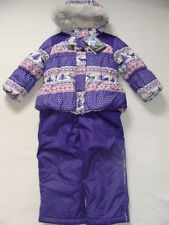NWT Girls Zero XPosur Snowsuit Size 4 Purple Jacket Coat Bibs Ski Snow Pants NEW