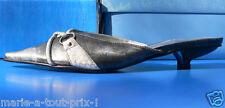 Superbes escarpins sandale sexy T38 noir métal cerusé 38 chaussures shoes !