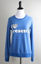 CHASER COLLECTION $78 Soft I Heart Love Presents Sweatshirt Top Size XS