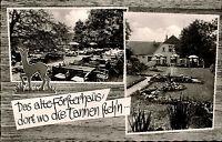 Bad Oeynhausen Oberbecksen Doppelkarte ~1950/60 Gasthaus Alter Förster Terrasse