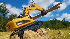 Big Daddy DIE-CAST Remote Control Excavator Timber Grab Toy with Lights & Sound