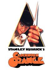 Stanley Kubrick's Clockwork Orange Knife Alex Malcolm McDowell Movie Poster