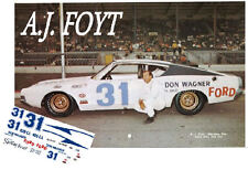 CD_1553 #31 A.J. Foyt Don Wagner  1970 Ford Torino  1:64 decals  ~OVERSTOCK~