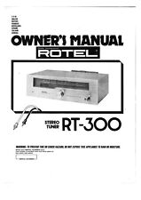 Rotel RT-300 Tuner Owners Instruction Manual