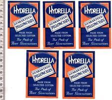 1960's HYDRELLA Pillowcase Gummed Labels x5