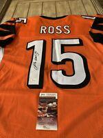 John Ross Autographed/Signed Jersey JSA COA Cincinnati Bengals