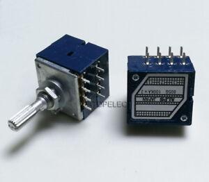 Japan ALPS RK27 100KAX2 LOG Stereo Volume Potentiometer Dual 100K 8pin Loudness