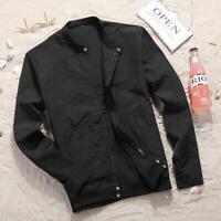 Men Sunscreen Slim collar jackets zipper jacket Casual coat outerwear overcoat