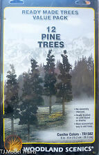 """Woodland Scenics #1582 Coniferous Tree Pack - Ready Made Trees -- 6 to 8"""""""