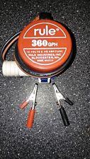 """Vintage Rule 360 GPH Bilge Pump 3/4"""" Discharge USA 12 Volt *New Old Stock*"""