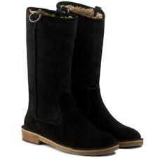 UGG ® Australia Daphne Neri in Pelle Scamosciata & Stivali di pelle di pecora UK 8.5 EU 41 USA 10 RRP £ 210