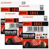 8 x Maxell Alkaline LR43 186 batteries * 1.5V 1176A AG12 Calculator Pack of 2 *