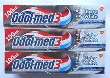 3x Odol med 3 • Extra White • Zahnpasta • 3x 100ml