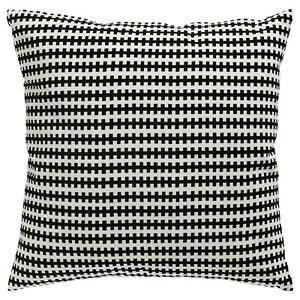 """Ikea STOCKHOLM Pillow Cushion w/Duck Feather Velvet Cotton Black/White 20"""" x 20"""""""