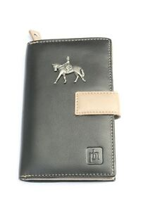Dressage Horse Equestrian Leather Purse with Zipped Pocket RFID Safe Ladies 182