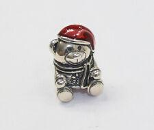 New Authentic Pandora Charm CHRISTMAS TEDDY BEAR  RETIRED 791391ENMX