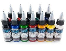 FUSION INK 12 St. - 30 ml PROFI Tattoo Ink Tattoo Colori d'inchiostro color Set Nuovo