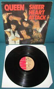 QUEEN Sheer Heart Attack ORIG 1st UK EMI 1974 + Lyric Inner 4U 4U EX AUDIO