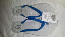 Women's Clear Jelly Flip Flops - Transparent Hard Sole - Sandals Size 6 7 8 9 10