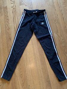 Women's Juniors Adidas Black Athletic Leggings Pants Size Small