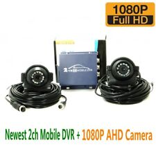 Newest 2CH MINI mobile dvr+1080P AHD Cameras mini vehicle DVR