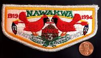 NAWAKWA LODGE 3 OA ROBERT E LEE COUNCIL VA PATCH 1994 CONCLAVE FLAP SMY DELEGATE
