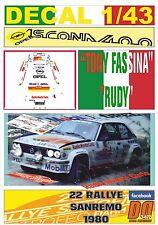 DECAL 1/43 OPEL ASCONA 400 TONY FASSINA R.SANREMO 1980 DnF (01)
