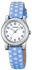 Calypso Kinderuhr by Festina Mädchen Girls K5713/4 blau weiß Leder-Textilarmband