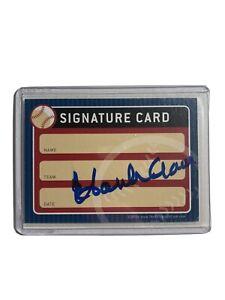 Hank Aaron Autographed Signature Baseball Card Milwaukee Braves HOF Auto