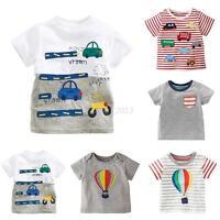 Kids Baby Boys Girls Short Sleeve Cartoon Cotton T-Shirt Summer Tops Tee T-Shirt