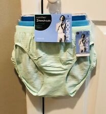 3 Pair Women's Jockey Comfies Microfiber Hipsters NWT-$25.50 -Size 8
