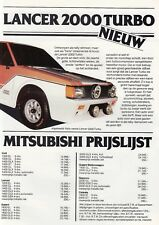 MITSUBISHI Lancer 2000 Turbo Colt Sapporo Galant Brochure dutch language 18
